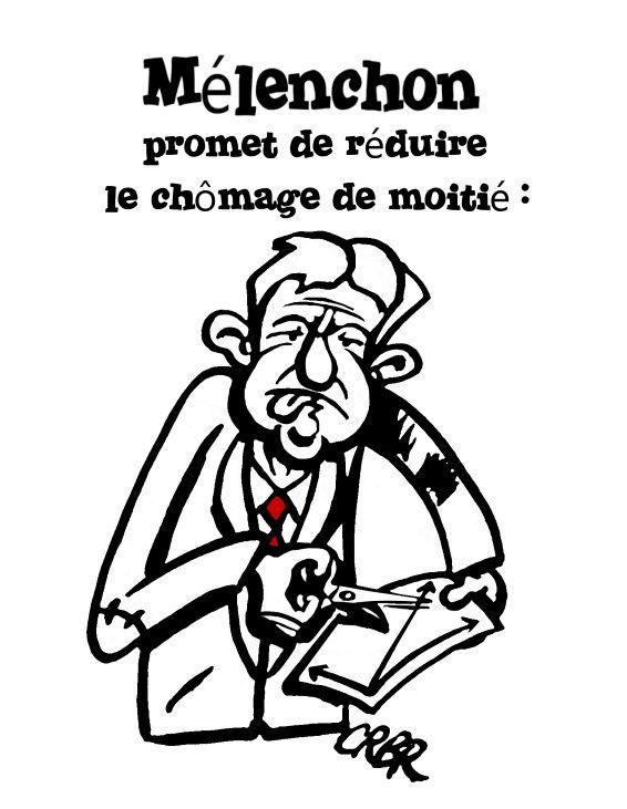 Mélenchon promet de réduire le chômage de moitié: