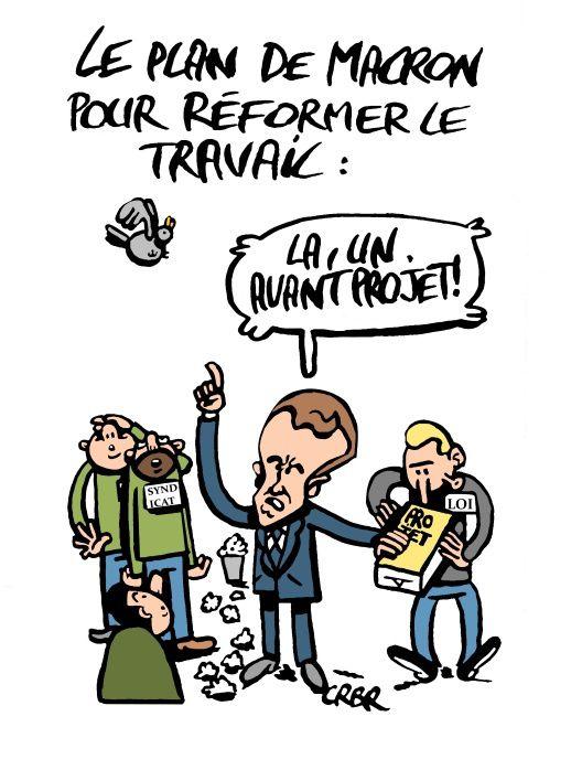 Le plan de Macron pour réformer le travail: