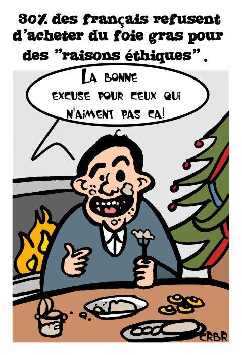 30% des français refusent d'acheter du foie gras pour des &quot&#x3B;raisons éthiques&quot&#x3B;.