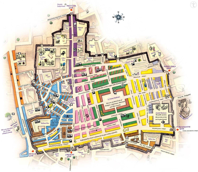 Plan du Grand Bazar