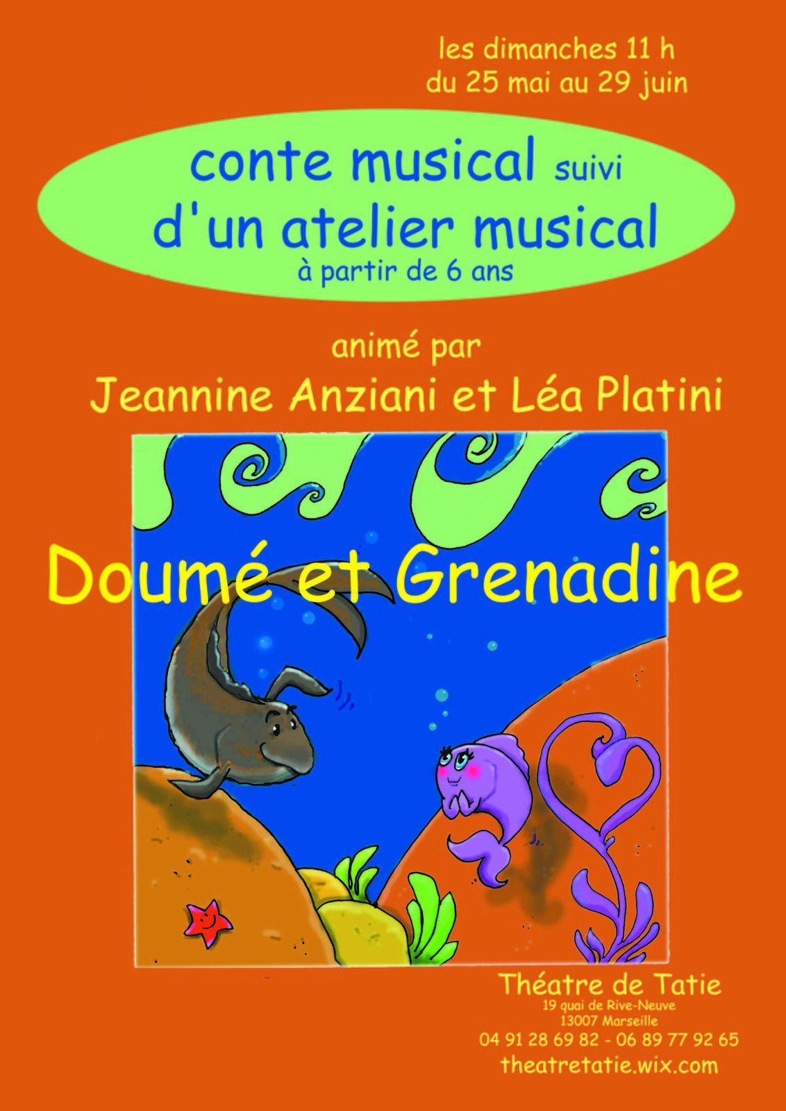Doumé &amp&#x3B; Grenadine au théâtre de Tatie