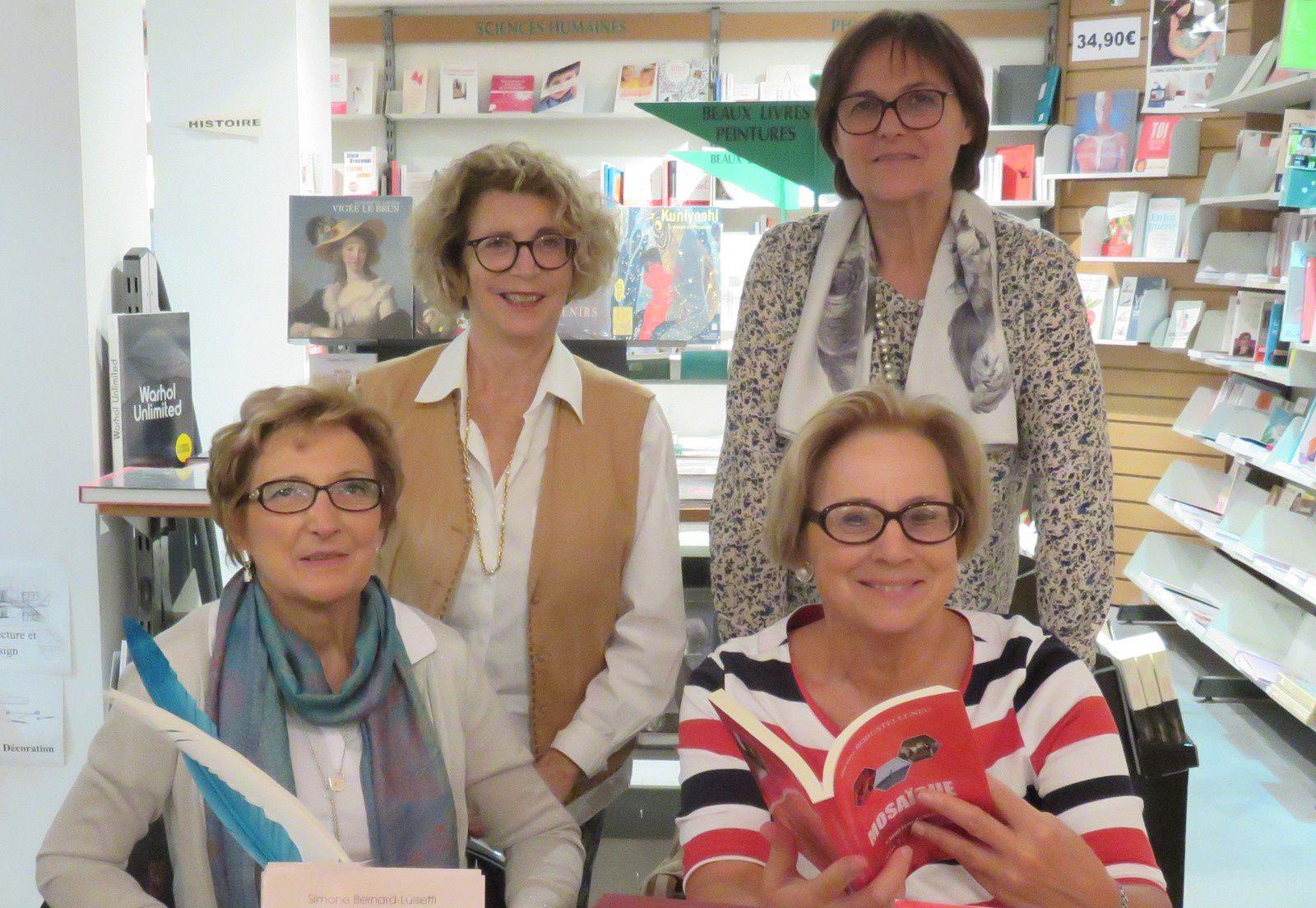 De bas en haut et de gauche à droite : Simone Luisetti - Martine Robustelli Neu - Jeannine Anziani - Nicole Delor