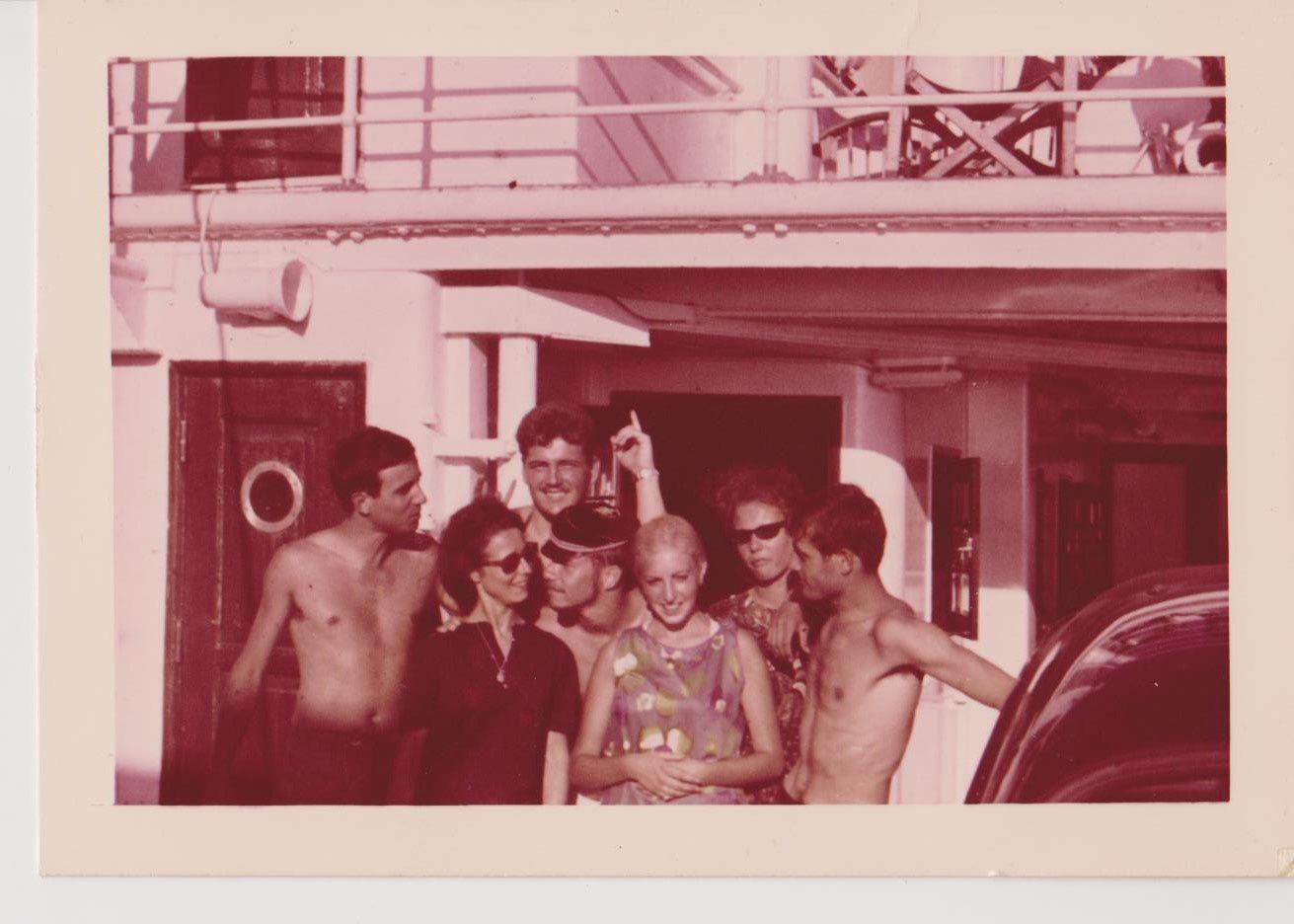 Juin 1964 à bord du Lydia
