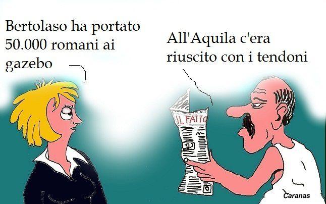 Adolescenti molesti e Bertolaso (vignette)
