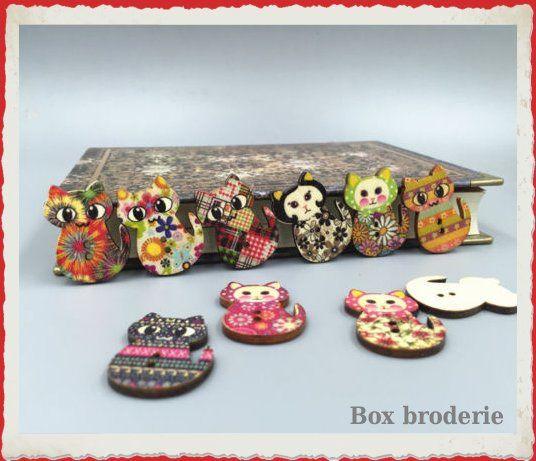 Lot de boutons bois à partir de 1,80€ les 5 http://boxbroderie.com/5-le-coin-mercerie