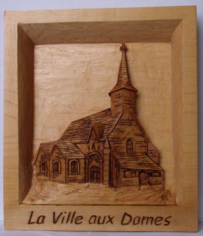 """""""Eglise de LVAD"""" après retouches. En érable oct 2013"""