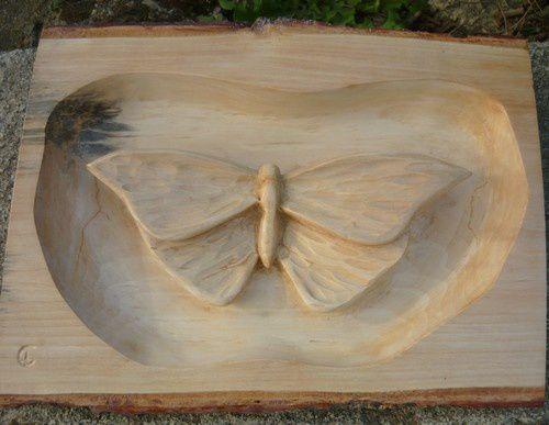 Papillon terminé pour Chantal.