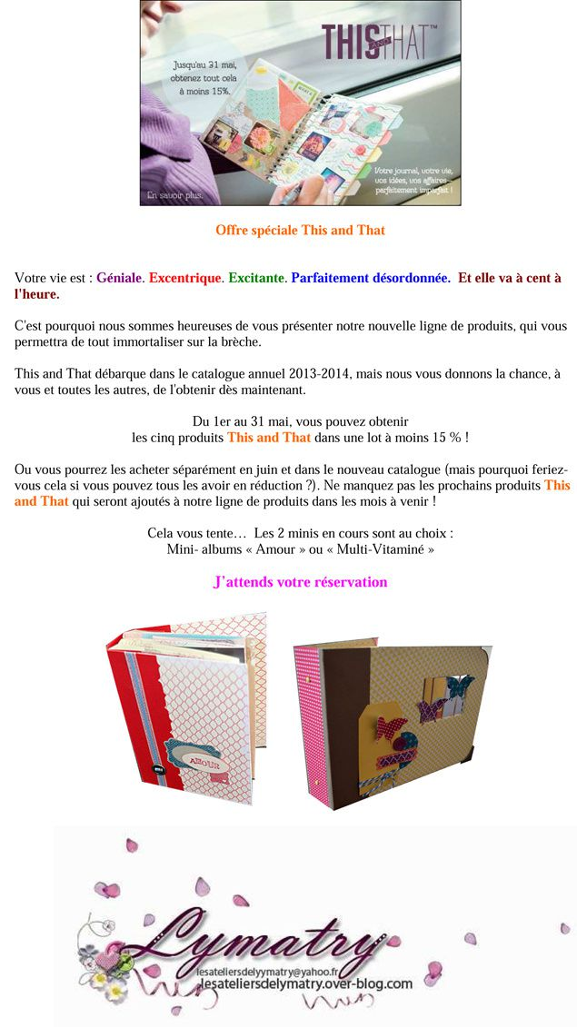 Offre spéciale This and That