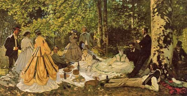 Claude Monet, Le Déjeuner sur l'herbe.
