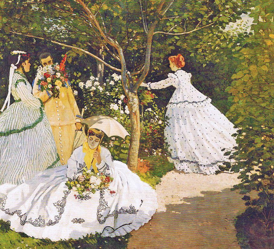 Claude Monet, Femmes au jardin, 1866.