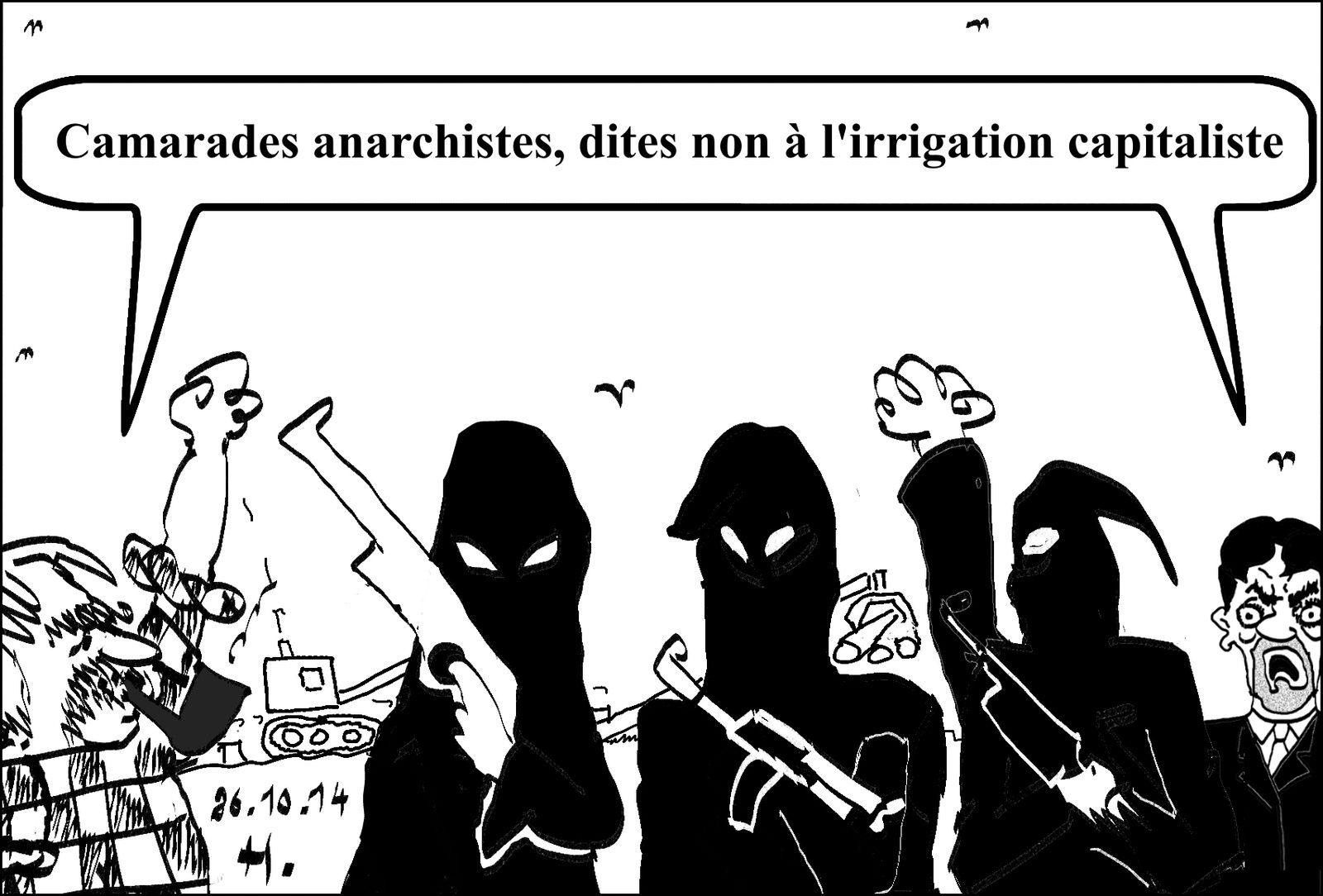 Non à l'irrigation capitaliste