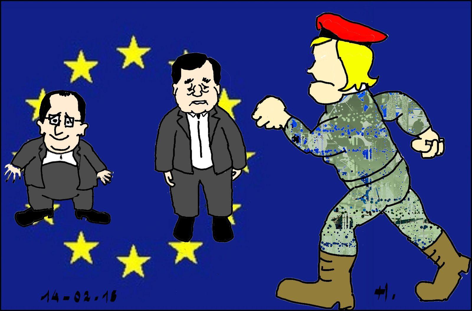 Marine va-t-en guerre contre l'Europe des Dumous