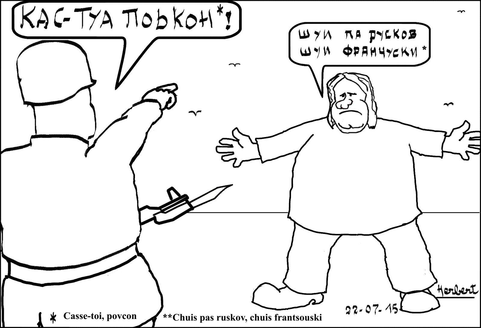 Depardieu pas voulu en Ukraine