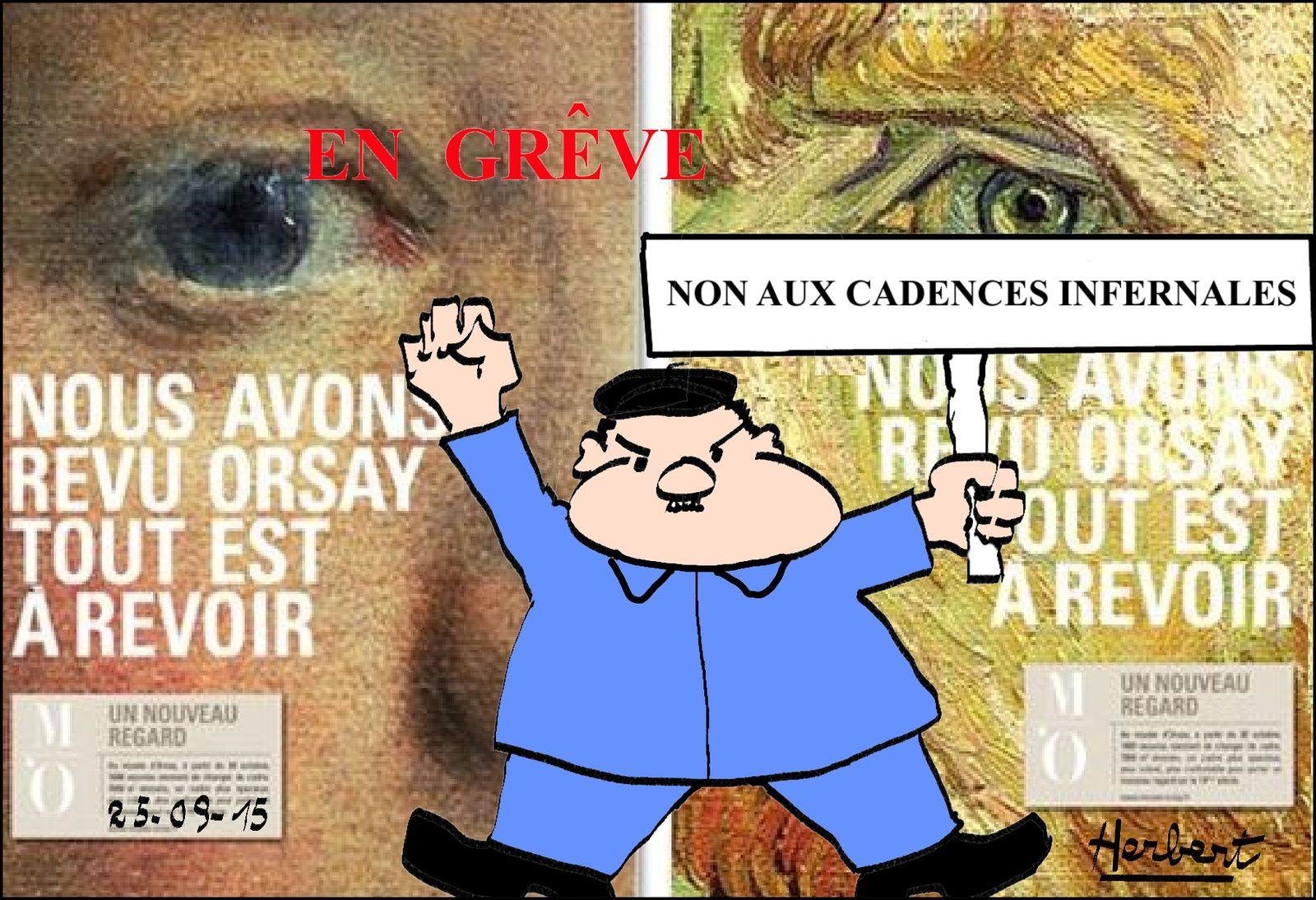 Grêve au Musée d'Orsay