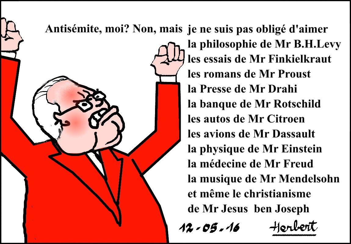 Le Pen pas antisémite, mais