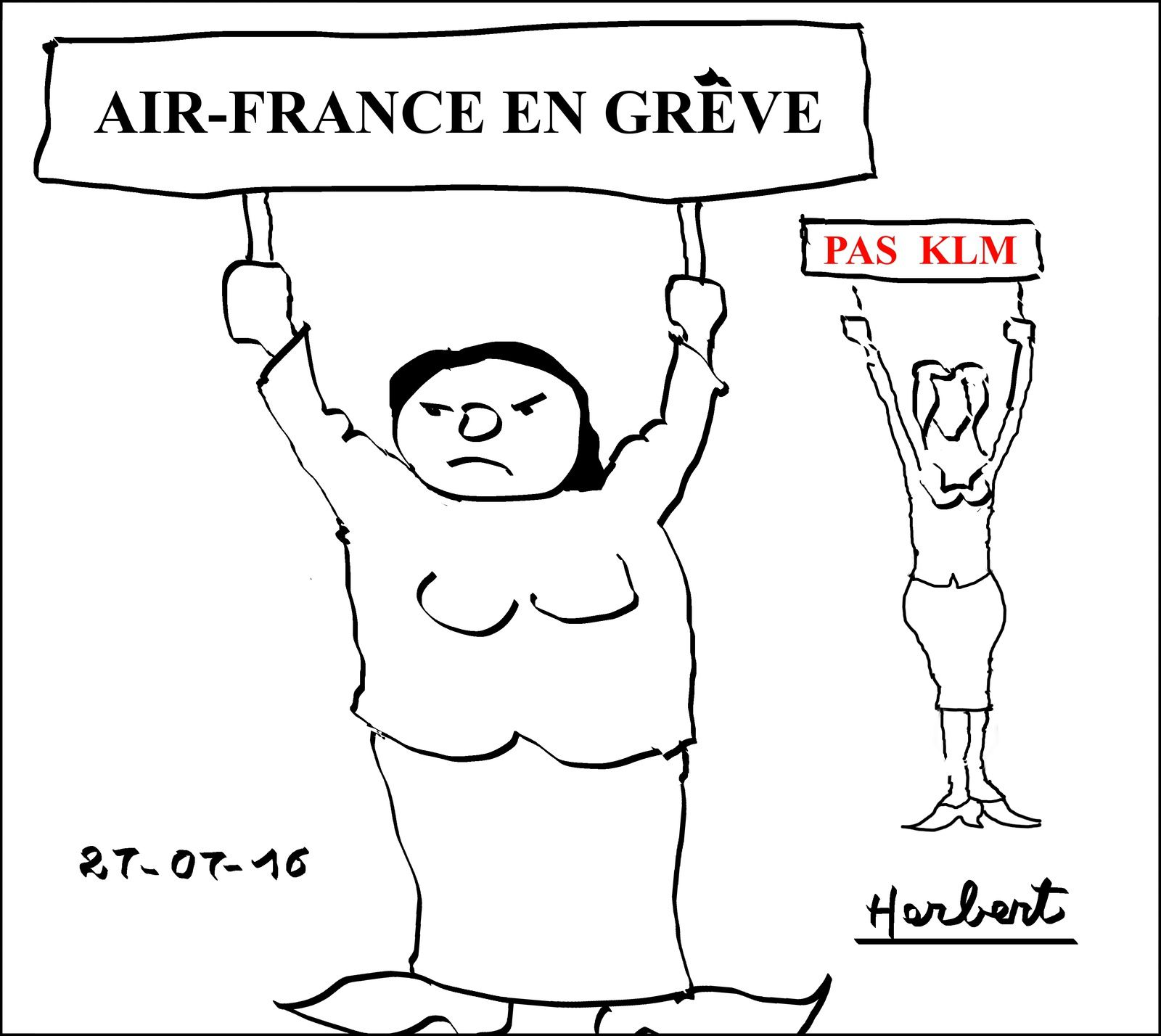 Grêve rituelle à Air-France (groupe AF-KLM)