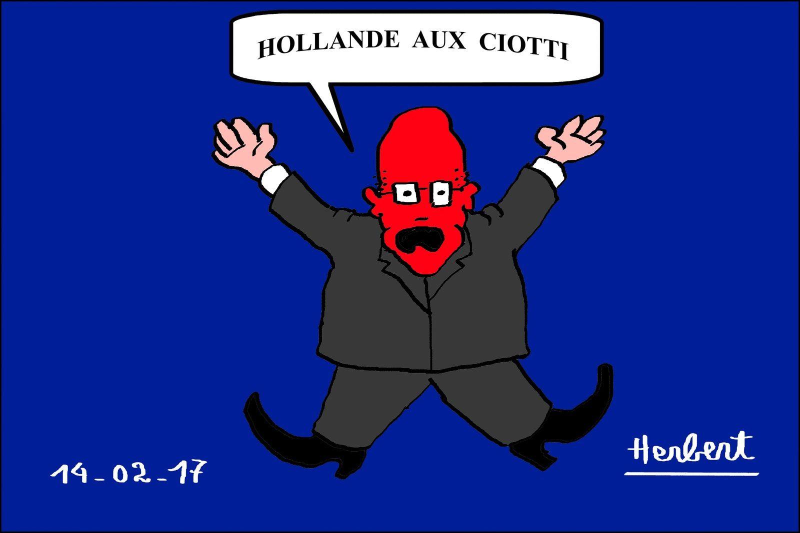 Ciotti, Hollande aux Ciotti