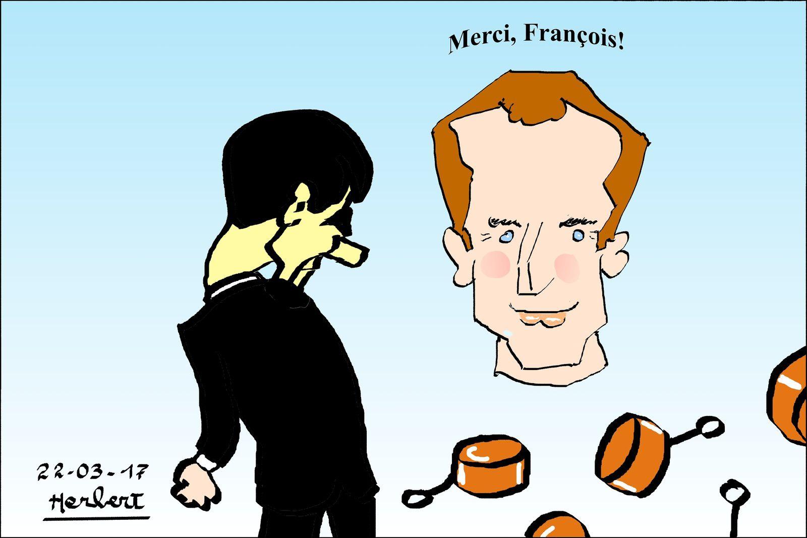 Macron, merci François!
