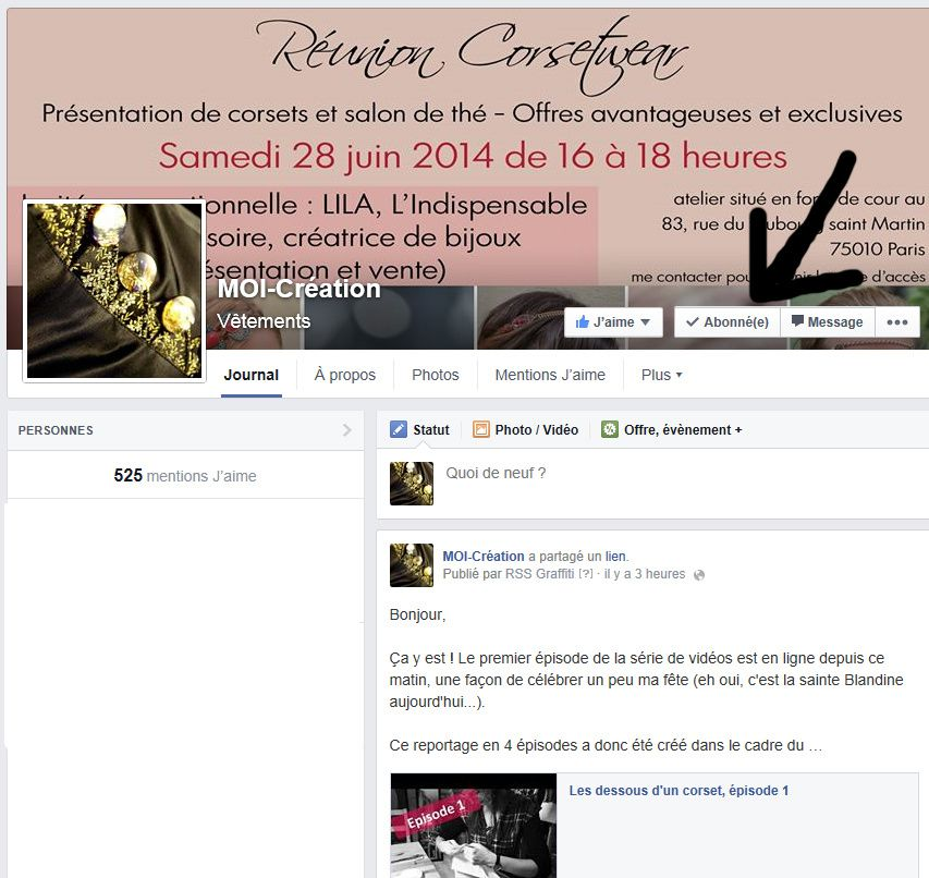 Information sur les notifications Facebook