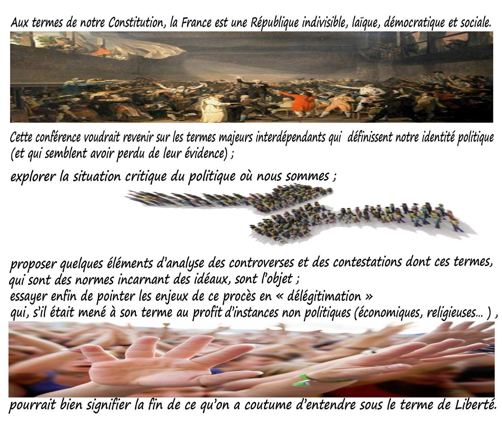&quot&#x3B;Un triptyque politique:République,laïcité,Démocratie&quot&#x3B;