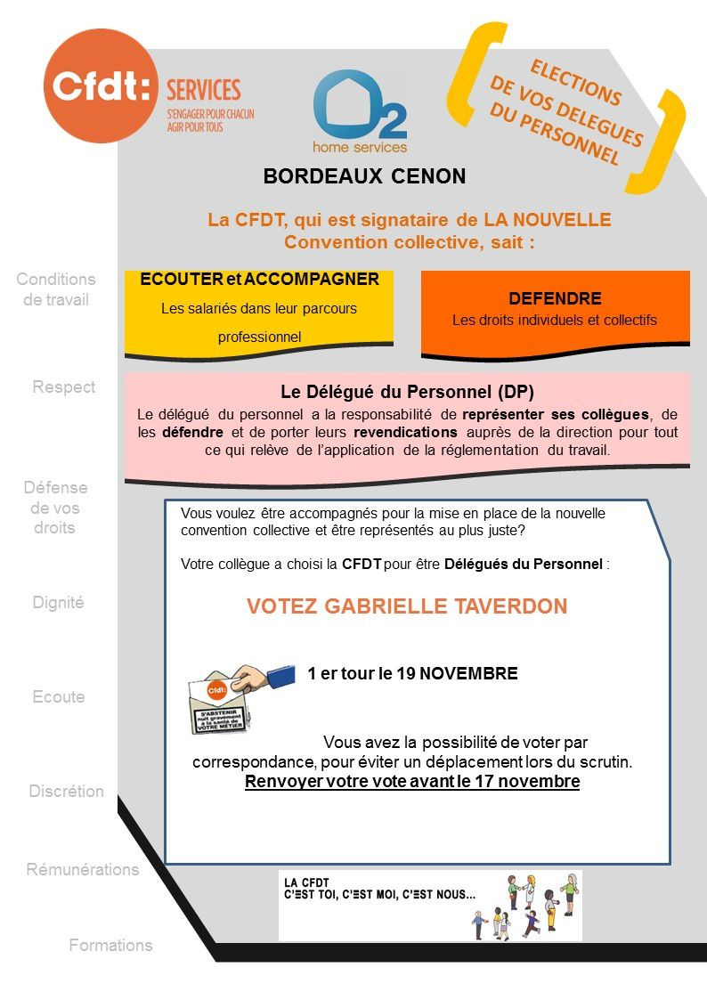 Election DP à l'agence O2 Bordeaux Cenon