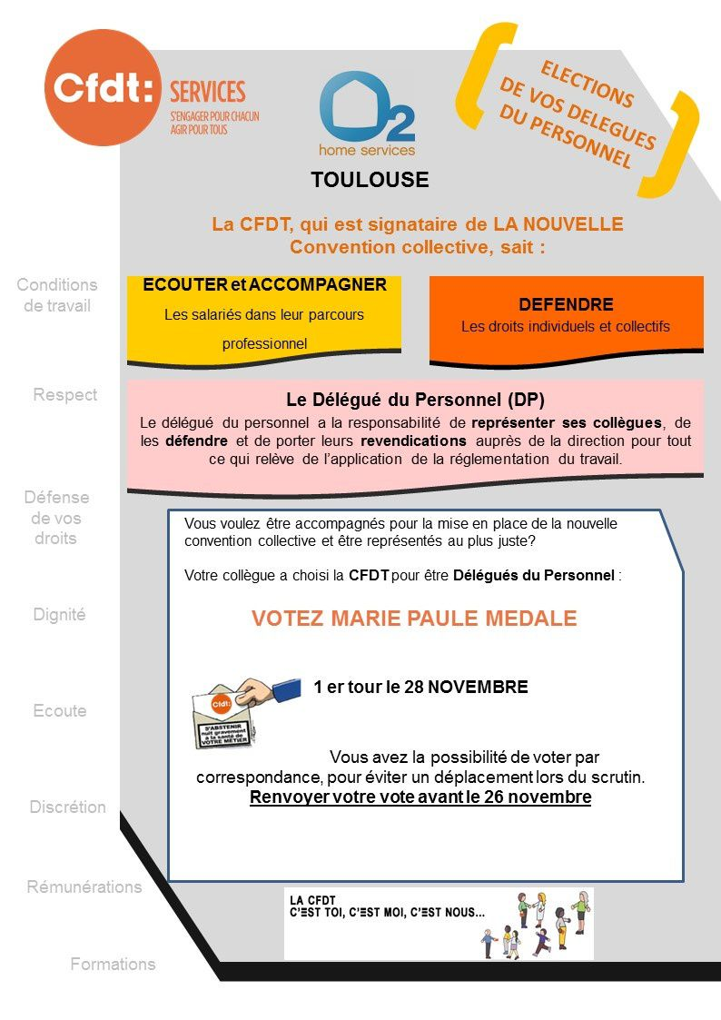 Election DP à l'agence O2 Toulouse