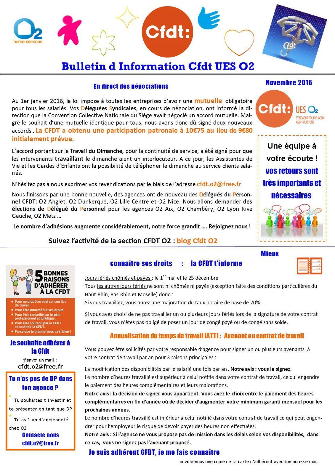 Information CFDT Novembre 2015
