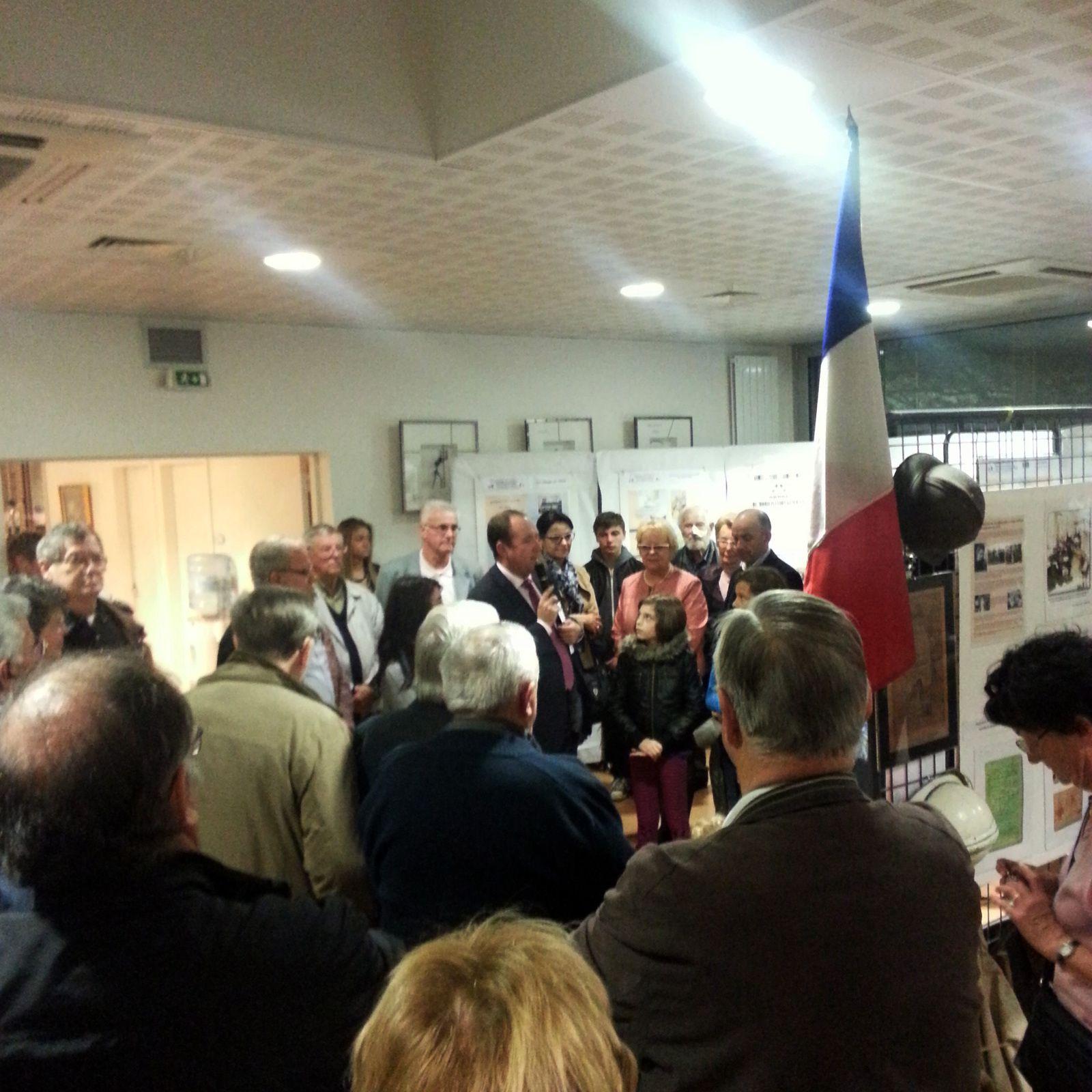 Inauguration de l'exposition en Hommage aux 16 disparus de St Aubin de Médoc