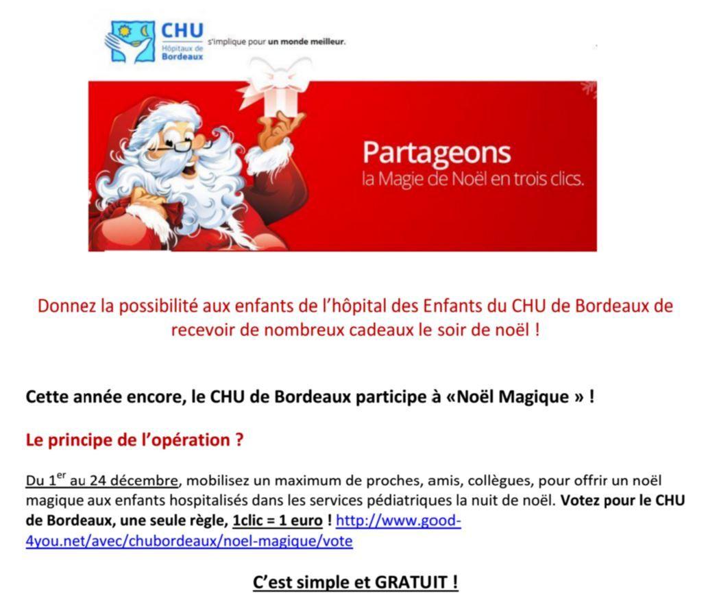D'un clic gratuit, offrez un Noël magique aux enfants hospitalisés