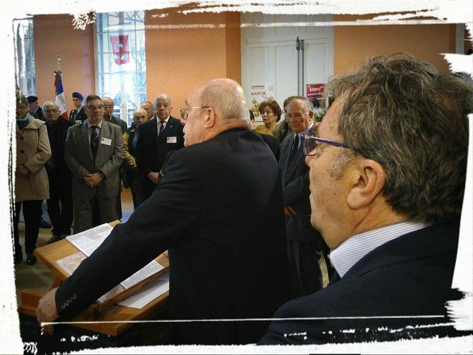 Avec Bernard Marrocq représentant l'UNC à St Aubin de Médoc