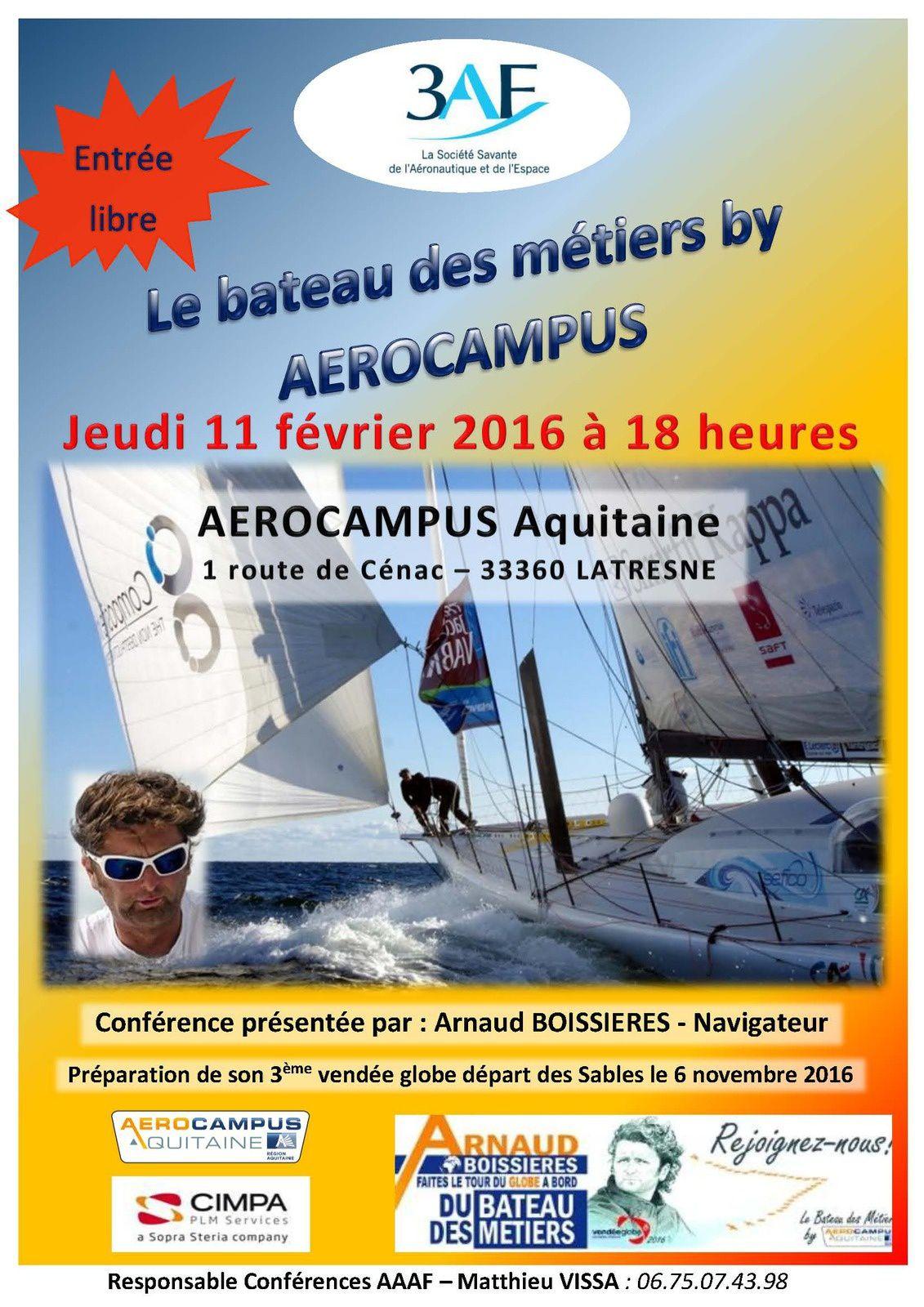 Conférence 3AF: Le bateau des métiers