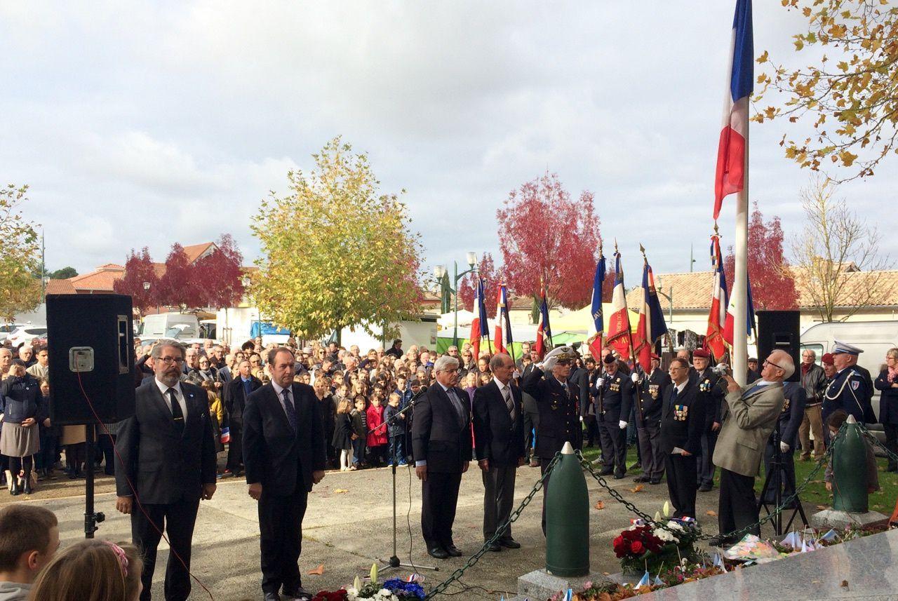 Commémoration de la Victoire et de la Paix à St Aubin de Médoc