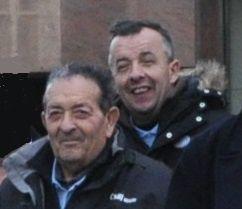 Bébert et Bernard avec l'amicale lors du déplacement à Londres en  février 2011 -  Tournoi de 6 nations