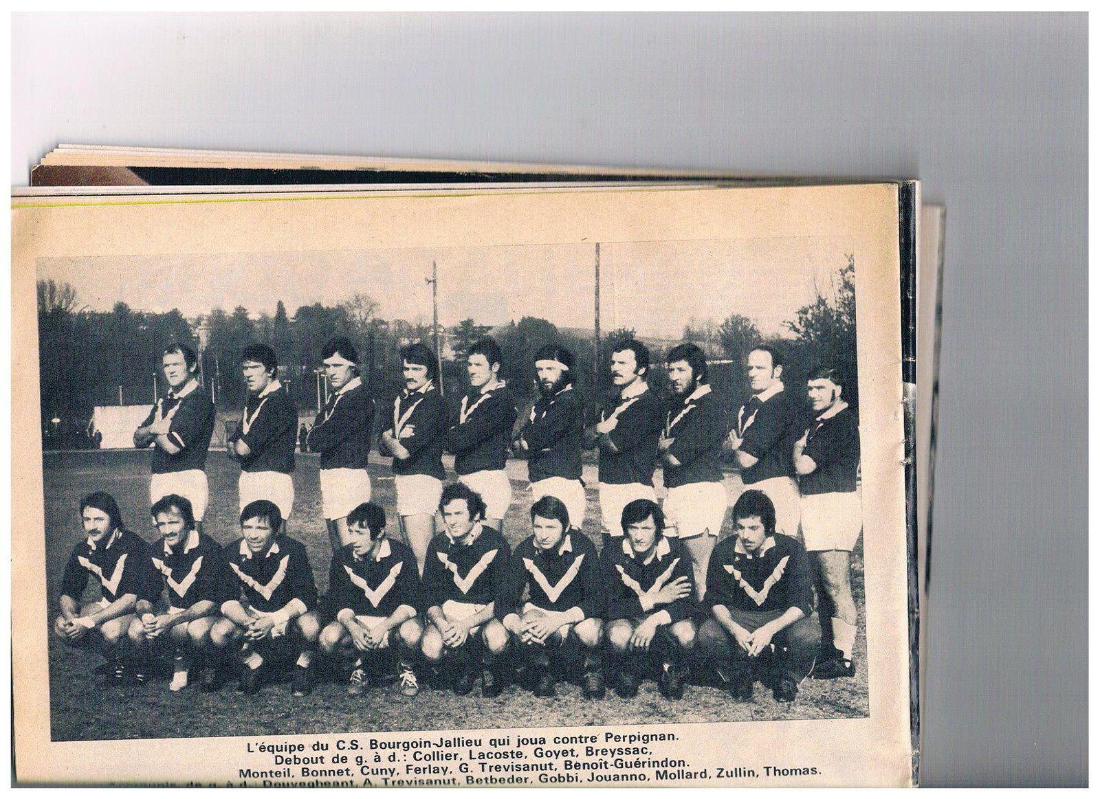 SOUVENIR EQUIPE CSBJ 1975