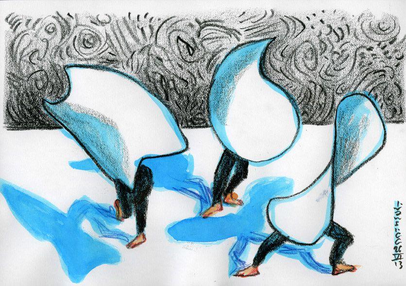 Ivan Sigg dessine au LEM, Laboratoire d'Etude du Mouvement
