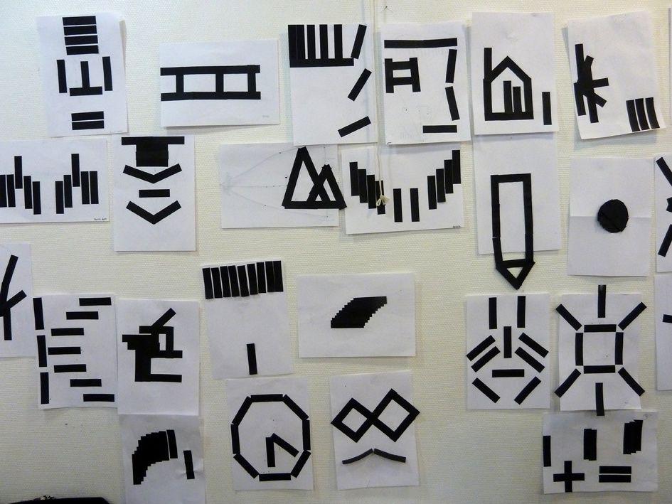 Avec 10 languettes noires on peut créer tous les logos du monde !