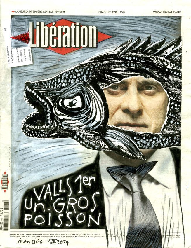 Libération 1er avril : Valls 1er, un gros poisson !