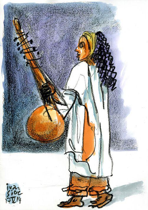 Dominique Sylvain (dite Joshanti) qui joue la mère d'Aïlo