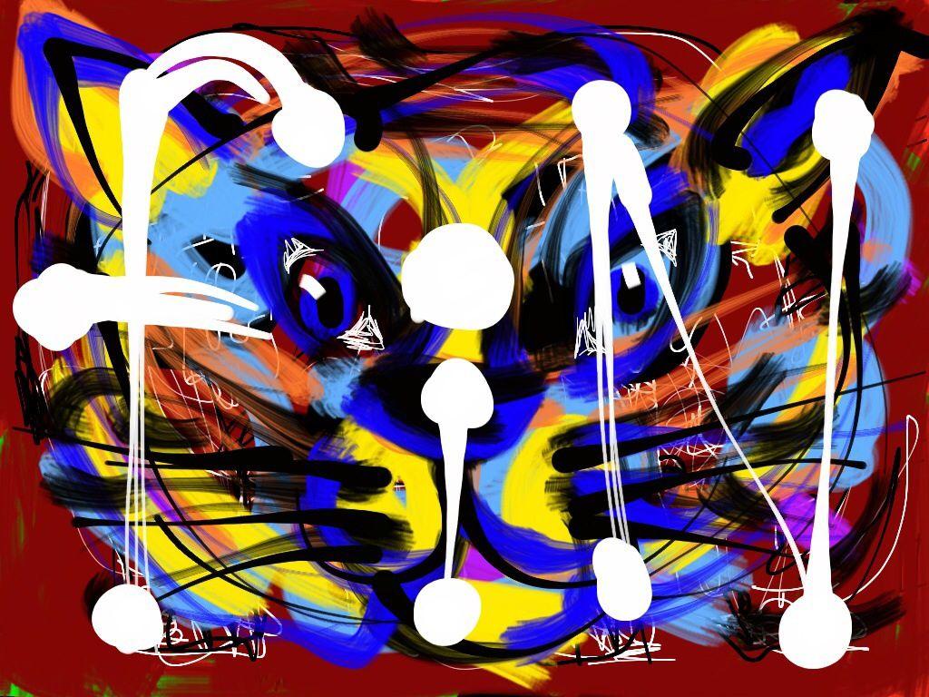 Image réalisée en direct à l'iPad sur une composition originale guitare/voix d'Eliott Sigg