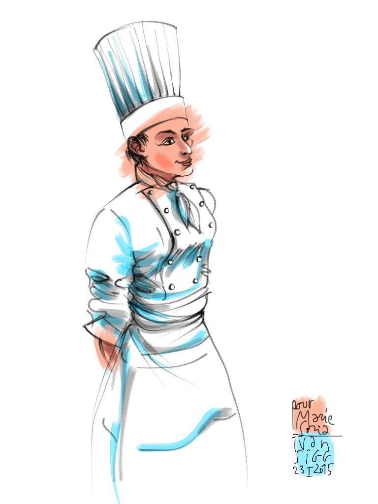 Quand Marie Soria me sert une St Jacques de plongée aux truffes : je lache mon iPad et tombe dans les pommes !