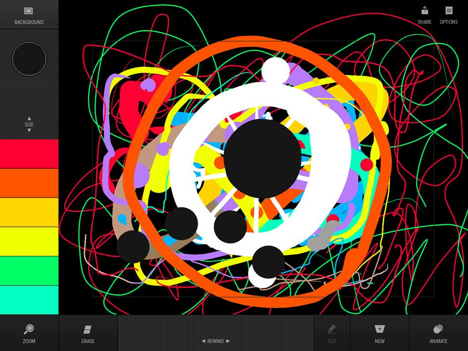 Animated digital paintings on TAGTOOL PLAY