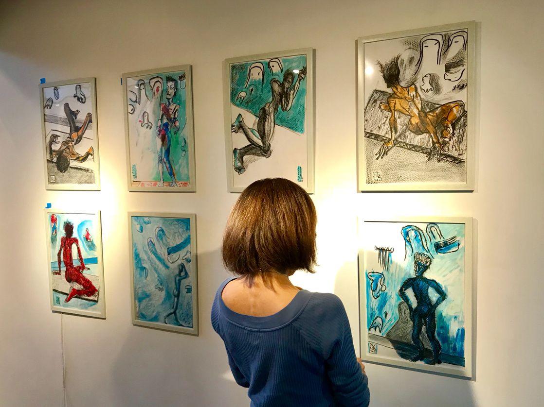 Ivan Sigg at Ashiyagaro Kyoto Gallery November 2018