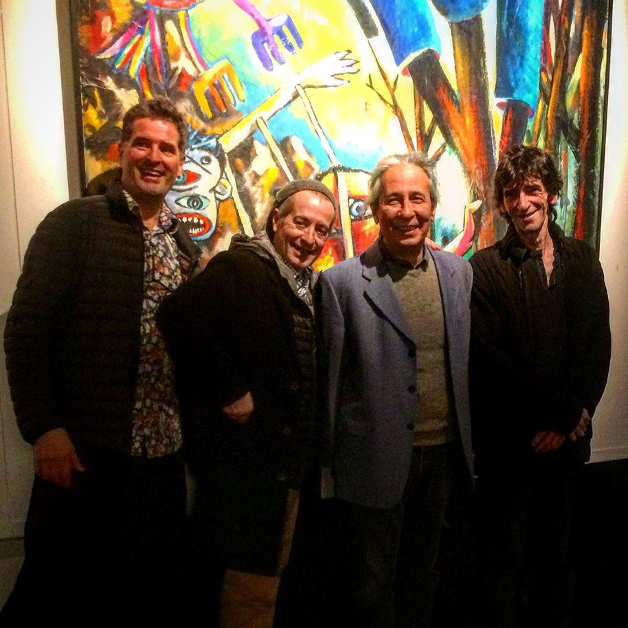 30 ans après, les quatre membres de Banlieue Banlieue se retrouvent devant l'Arbre bleu : Ivan Sigg, Antonio Gallego, Kenji Suzuki, Alain Campos.