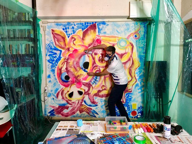 Ivan Sigg, an artist in Kōbe  神戸. Japan May 2019 #2