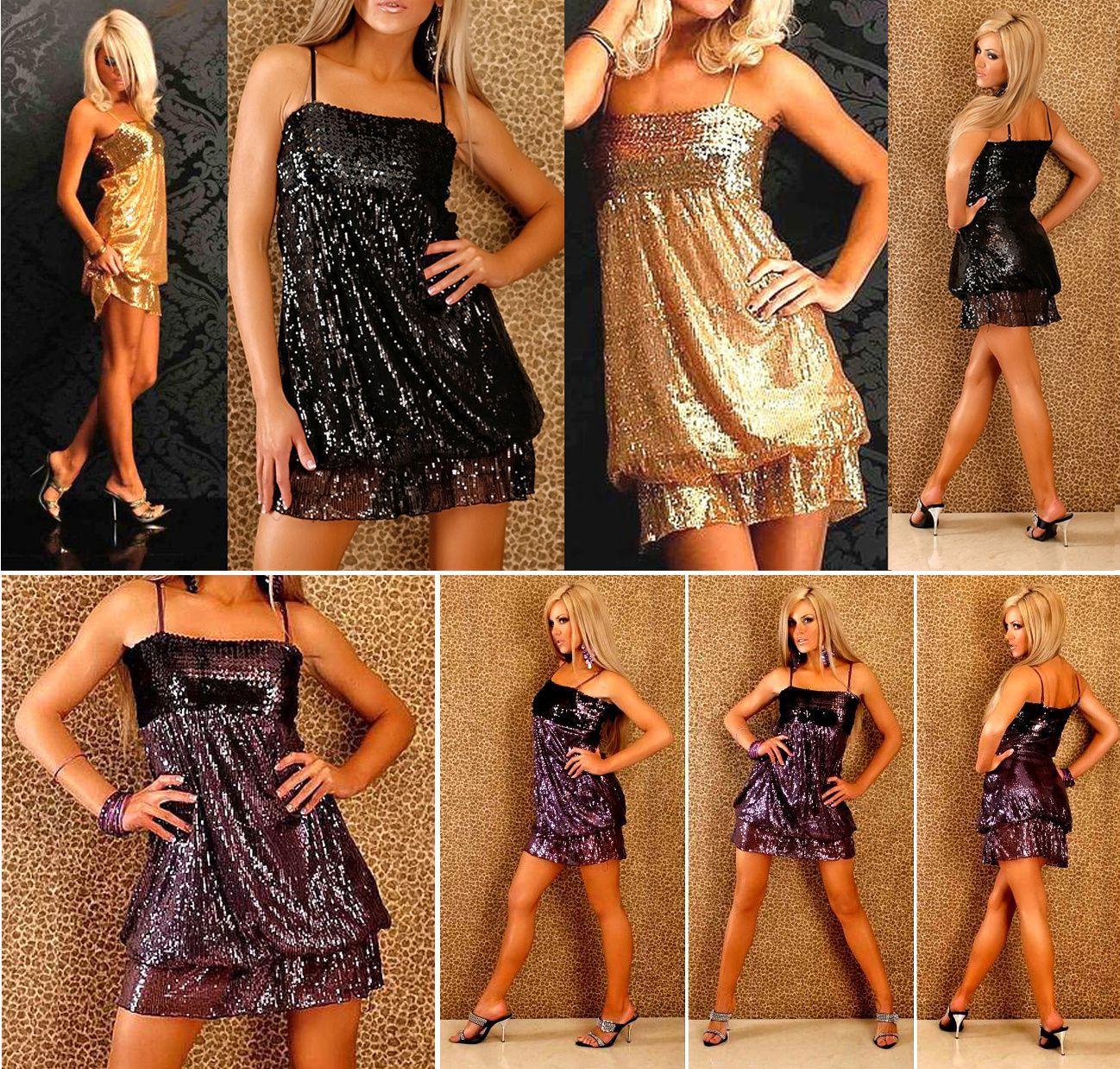 19 90 costumes de sc ne danse spectacles soir es disco mini robe paillettes or noir argent. Black Bedroom Furniture Sets. Home Design Ideas