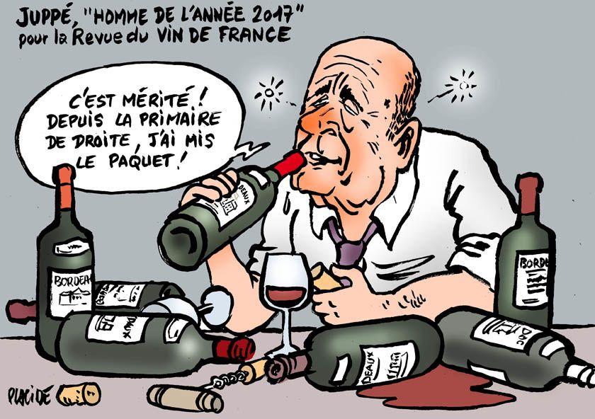 Alain Juppé, &quot&#x3B;homme de l'année 2017&quot&#x3B; pour la Revue du Vin de France
