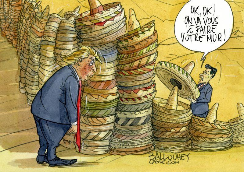 Le Mur de Trump....par PIERRE BALLOUHEY