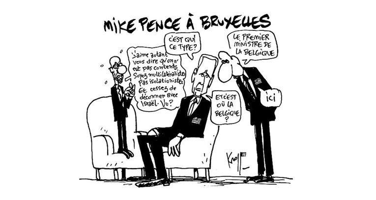 Europe. Mike Pence s'aventure dans le 'trou à rats' bruxellois