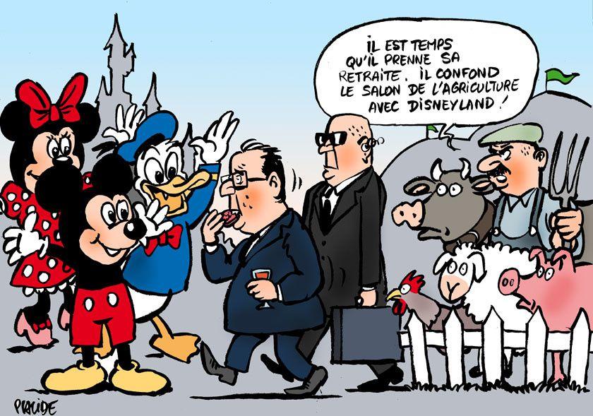 Hollande à son dernier Salon de l'Agriculture puis à Disneyland