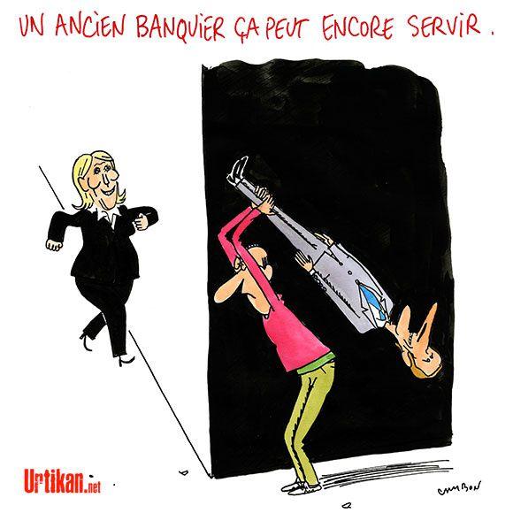 Les électeurs derrière et Emmanuel Macron devant !